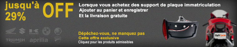 support de plaque immatriculation