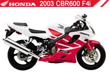 2003 Honda CBR600F4i accessoires