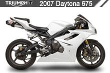 2007 Triumph Daytona 675 accessoires