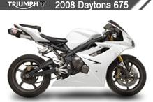 2008 Triumph Daytona 675 accessoires
