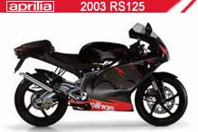 2003 Aprilia RS125 accessoires