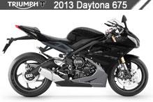 2013 Triumph Daytona 675 accessoires