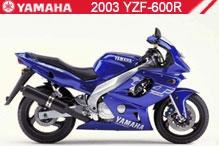 2003 Yamaha YZF600R accessoires