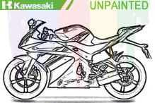 Kawasaki Carénages Non peint